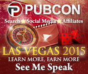 See me speak at PubCon