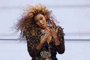 Beyonce performs at the Glastonbury Festival in Somerset